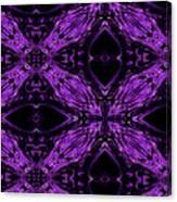 Purple Crosses Connecting Canvas Print