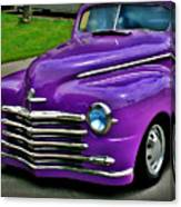Purple Cruise Canvas Print