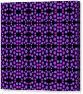 Purple Dots Pattern On Black Canvas Print