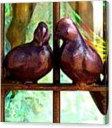 Purple Doves 2 Canvas Print
