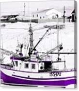 Purple Fishing Boat Canvas Print