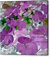 Purple Flower Wishes Canvas Print