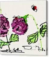 Purple  Flowers Grow Canvas Print