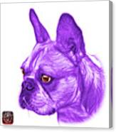 Purple French Bulldog Pop Art - 0755 Wb Canvas Print
