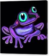 Purple Frog  Canvas Print