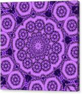 Purple Geek Kaleidoscope Five Canvas Print