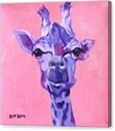 Purple Giraffe Canvas Print