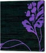 Purple Glamour On Black Weave Canvas Print