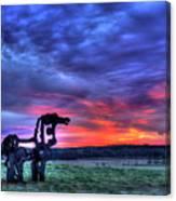 Purple Haze Sunrise The Iron Horse Canvas Print