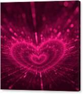 Purple Heart Valentine's Day Canvas Print