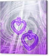 Purple Hearts Canvas Print