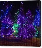 Purple Holiday Lights Canvas Print