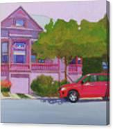 Purple House, Alameda Canvas Print