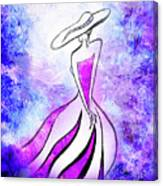 Purple Lady Charm Canvas Print