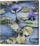 Purple Lily Canvas Print