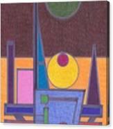 Purple Lines Canvas Print