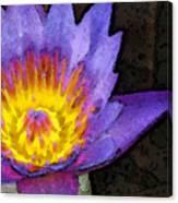 Purple Lotus Flower - Zen Art Painting Canvas Print