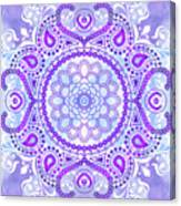 Purple Lotus Mandala Canvas Print