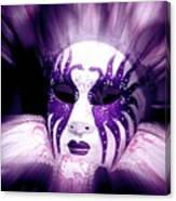 Purple Mask Flash Canvas Print