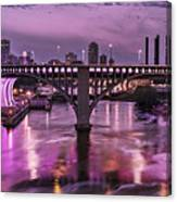 Purple Minneapolis For Prince Canvas Print