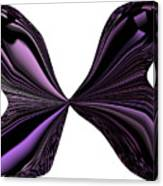 Purple Monarch Butterfly Abstract Canvas Print