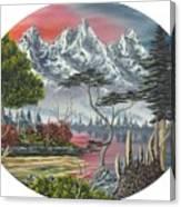 Purple Mountain Lake Canvas Print
