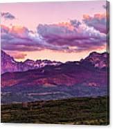 Purple Mountain Sunset Canvas Print