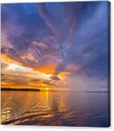 Purple Orange Dream Sunset Canvas Print