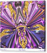 Purple Papillon Canvas Print