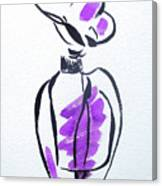 Purple Perfume Bottle Canvas Print