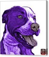 Purple Pit Bull Fractal Pop Art - 7773 - F - Wb Canvas Print