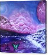 Purple Planet Canvas Print