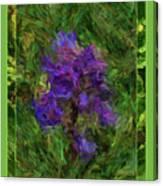 Purple Png Flower Canvas Print