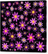 Purple Polka Canvas Print