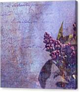 Purple Prose Canvas Print