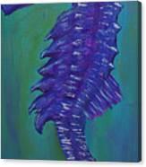 Purple Seahorse Canvas Print