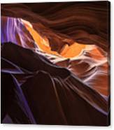 Purple Shadows To Golden Light Canvas Print