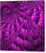 Purple Shell Canvas Print