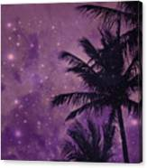Purple Sky Palm Canvas Print