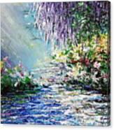 Purple Tree By The Lake Canvas Print