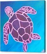 Purple Turtle Canvas Print