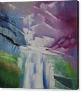 Purple Waterfalls Canvas Print