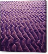 Purple Waves Of Sand Canvas Print