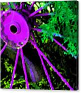 Purple Wheel Canvas Print