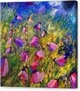 Purple Wild Flowers  Canvas Print