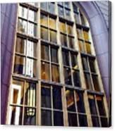 Chicago Golden Purple Window Panes Canvas Print
