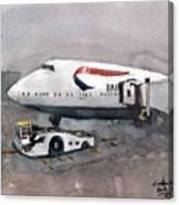 Push Back 747 Style London Canvas Print