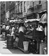 Pushcart Market, 1939 Canvas Print