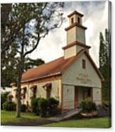 Pu'ula Congregational Church - Nanawale Canvas Print