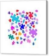 Puzzle Pieces Canvas Print